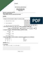 Test de Evaluare Initiala La a Clasa a Iva 20112012