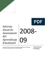 Informe Anual 2008-09 Assessment Biologia