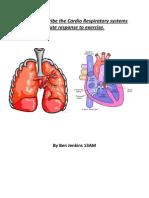 2 - Unit 2 - Describe the Cardio Respiratorys Response to Acute Exercise