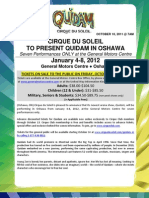 "Cirque du Soleil ""Quidam"" at the General Motors Centre"
