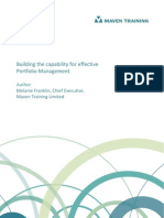 Building Capability for Effective Portfolio Management 1.1