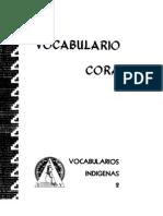 Vocabulario Cora Mesa Del Nayar
