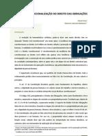 Constitucionalização do Direito das Obrigações