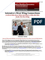 Solyndra's West Wing Connections