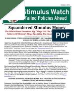Squandered Stimulus Money
