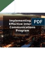 Implementing an Effective Internal Communications Program