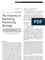 The Anatomy of marketing Positioning Strategy