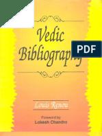 Vedic Bibliography By Louis Renou