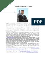 A Vinda Do Obama Para o Brasil