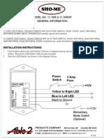 SHO-ME 11.1005SF Instructions