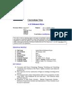 002 Curriculum Vitae 05102011 Srplanning Enginner