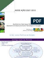 Apresentação Plano de Ação Ciência Tecnologia Inovação 2007 2010