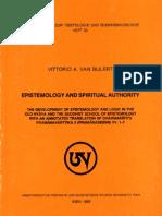Epistemology and Spiritual Authority