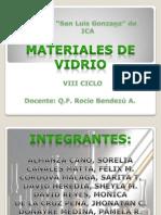 materiales de vidrio