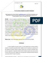 BENEFICIAMENTO DE ALGODÃO ORGÂNICO NO AGRESTE PARAIBANO