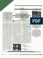 """"""" El bastón de mando, elemento iconográfico de las estelas clásicas mayas """" [ periódico Siglo XXI, suplemento Iximulew, 8 agosto de 1997, Guatemala C.A.]."""