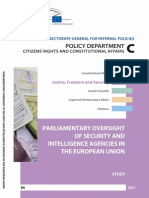 Parliamentary Oversight of Security and Intelligence Agencies in the European Union