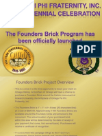 Founders Brick Program Launch Revised 082410