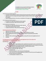 Admission Procedure for India