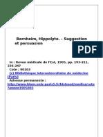 BERNHEIM_Suggestion Et Persuasion