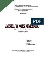 Ubv America Ya No Es Numero Uno