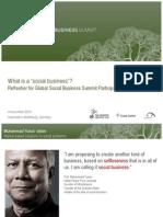 Social Business by Prof. Muhammad Yunus