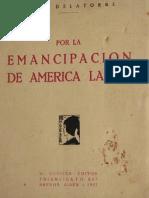 1927. Víctor Raúl Haya de la Torre - Por la Emancipación de America Latina