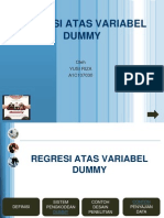 Regresi Atas Variabel Dummy