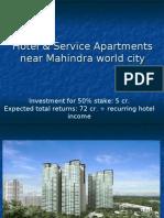 Hotel & Service Apartments near Mahindra world city SEZ Jaipur