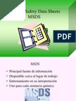 Fichas de Seguridad Msds
