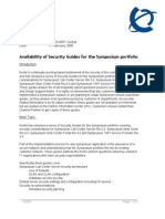 Availability of Security Guides