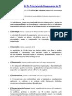 Princípios e Ciclo de Governança de TI