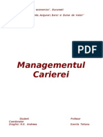 Managementul Carierei