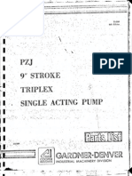 Gardner Denver- Bomba de Lodos PZJ-9 Part List
