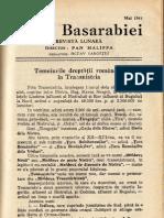 TEMEIURILE DREPTĂȚII ROMÂNEȘTI ÎN TRANSNISTRIA - REVISTA VIAȚA BASARABIEI - MAI 1943