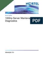 1002rp Server Maintenance and Daignostics