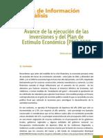 Avance de Inversiones y Del Plan de Estimulo Economico