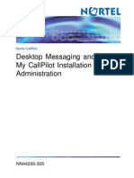 Desktop Messaging and My CallPilot Installation and Administration