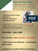 Jim Crow Power Point