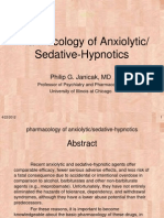 Pharmacology of Anxiolytic Sedative Hypnotics