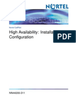 High Availability Installation and Configuration