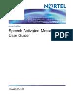 Speech Activated Messaging User Guide