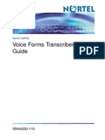 Voice Forms Transcriber User Guide