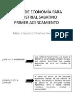 CURSO DE ECONOM+ìA PARA INDUSTRIAL SABATINO