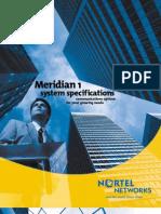 Meridian 1 System Specs