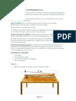 PROCEDIMIENTO EXPERIMENTAL DEL MRUV