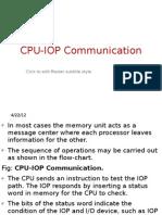 CPU IOP Communication