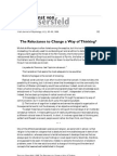 von Glaserfeld- The reluctance to change a way of thinking
