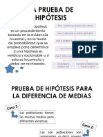 Prueba de Hipotesis Diferencia de Medias
