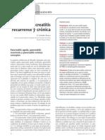 01.118 Pancreatitis recurrente y crónica